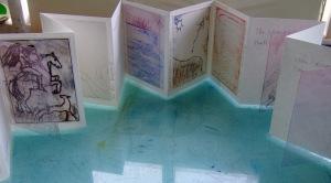 Figure 3. Collaborative concertina book of the Tir na nOg story
